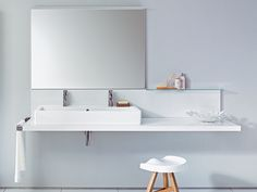 Plan de toilette simple Collection Delos by DURAVIT Italia | design EOOS
