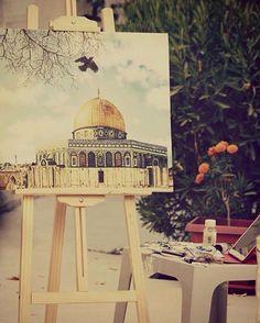❤️ Jerusalem, Mosque, Taj Mahal, Islam, Art Pieces, Building, Creative, Artwork, Inspiration