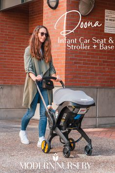 Doona's Infant Car Seat and Stroller + Base is the only car seat with integrated wheels...transforms from car seat to compact stroller in minutes!