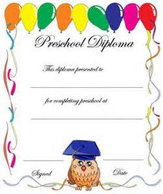 Free printable kindergarten graduation certificate template umi free printable preschool diploma certificate bing images yelopaper Gallery