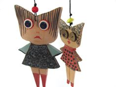 My Japanese Friends - Ceramic dolls--- gift-ceramic Marionette-can be part of a moblie--home decor. (48.00 USD) by AnnaLela