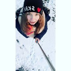 #polishgirl #me #january #2k16 #snow ❄ #winter #goodday #blueeyes #blondehair #czapa #skra #smile #happygirl #selfie #selfiestick #GoPoland ⛄✊⚾