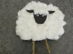 Lamb craft idea - this is really cute!