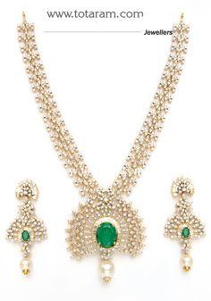 Diamond Earrings for Women in 18K Gold Totaram Jewelers Buy Indian