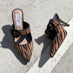 Bring out your inner wild with WILDER by London Rebel Shoe Warehouse, Women's Mules, Latest Shoe Trends, Tiger Print, You Bag, Rebel, Buy Now, Stiletto Heels, Bring It On