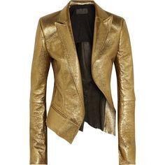 Haider Ackermann Metallic leather blazer ($4,350) found on Polyvore