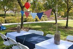 "A ""nautical"" birthday. Nautical Mickey, Nautical Theme, Baby Shower Themes, First Birthdays, Patio, Table Decorations, Outdoor Decor, Baby Boy, Home Decor"