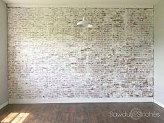 Did you ever wish you had a brick wall in your home? Well, that dream can come true with this faux DIY brick wall project! Create a brick wall in your home while still being on a budget! Fake Brick Wall, Brick Wall Paneling, Faux Brick, Exposed Brick, Feature Wall Living Room, Accent Walls In Living Room, Feature Walls, Living Rooms, Kid Rooms