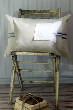 Decorative Pillow Cover flax linen by SuttonPlaceDesigns