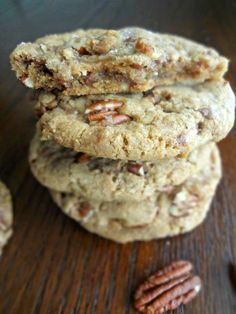 The Cooking Actress: Brown Butter Pecan Toffee Cookies #baking #sweets #desserts #snacks