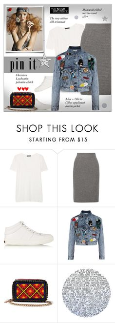 """""""Pins With Personality"""" by alves-nogueira ❤ liked on Polyvore featuring The Row, Madewell, Jimmy Choo, Alice + Olivia, Christian Louboutin and Tiffany & Co."""