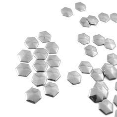 Iron On Metallic Hexagon Studs, Football Hot Fix Rhinestuds Nail Heads, Heat Transfer Studs #irononpatch #irononstuds #nailsart