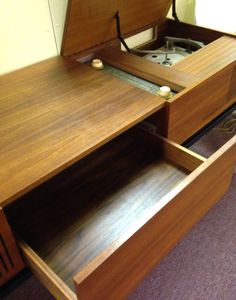 RARE Blaupunkt Arizona Danish Modern Teak Console Credenza Stereo Vintage   eBay