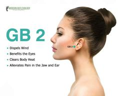 GB2 Dispels wind, benefits the eyes, clears body heat, alleviates pain in the jaw and ear / gallbladder Reflexology Points, Reflexology Massage, Acupuncture Points, Acupressure Points, Alternative Health, Alternative Medicine, Gua Sha, Accupuncture, Self Massage