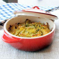 Cabbage and Leek Gratin