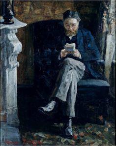 James Ensor:  Portrait of the Artist's Father (1881)