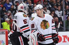 Corey Crawford and Ben Smith