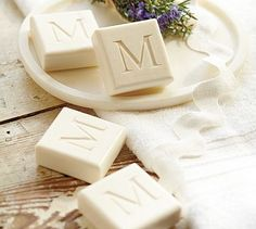 Monogrammed soaps -- love.