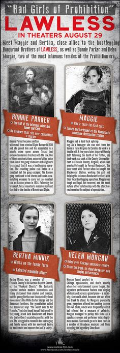 New Lawless Infographics Breakdown Bootleggers And The Bad Girls of Prohibition - CINEMABLEND
