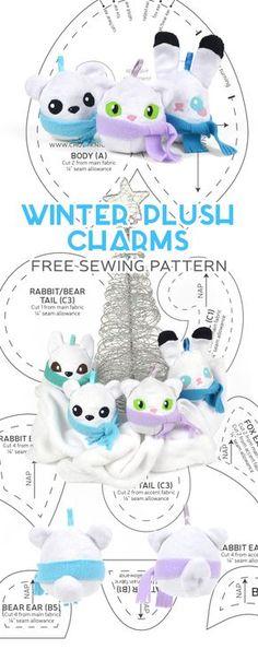 Free Pattern Friday! Winter Plush Charms | Choly Knight