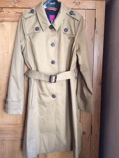 Womens Joules Trench Coat/ Mac size 14