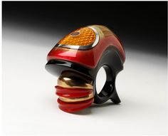 Peter Chang: Ring, Acrylic and bronze. 2007