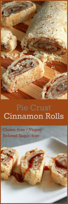 Nutritionicity   Recipe: Pie Crust Cinnamon Rolls (Gluten-Free, Vegan, Refined Sugar-free) This flaky, gooey, sweet treat is now added to the list of healthier versions of traditional favorites. Get the recipe at http://www.nutritionicity.com/recipes/recipe-pie-crust-cinnamon-rolls-gluten-free-vegan/