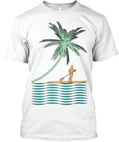 Our Paddle Board Shirts are Printed on high quality American Apparel Cotton Tees and they are only available in our shops.