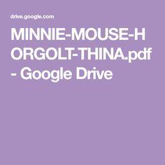 Google Drive, Minnie Mouse, Cartoon, Character, Amigurumi Patterns, Groomsmen, Doll, Cartoons