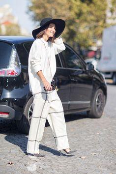 Golestaneh wearing Jimmy Choo Pumps at PFW