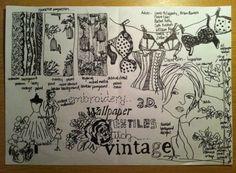 doodles I Wallpaper, Designer Wallpaper, Vintage Underwear, Easy Video, Easy Drawings, Vintage Floral, Hand Embroidery, Hand Lettering, 3 D