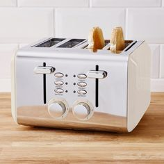 Four Slice Toaster, Cleaning Wipes, Browning, Bread, Touch, Stylish, Unique, Brot