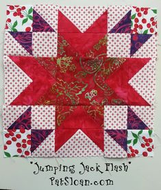 Pat Sloan Jumping Jack Flash! The FREE #Aurifil BOM for 2103