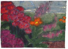 Emil Nolde, Rote Blüten, 1925, Auktion 896 Moderne und Zeitgenöss.Kunst, Lot 317 #diebruecke #thebridge