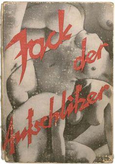 hans bellmer, photomontage cover, 1924, Jack der Aufschlitzer