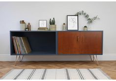 G Plan Mid Century Teak Sideboard Painted Navy Blue With Copper Hairpin Legs photo 1 G Plan Sideboard, Painted Sideboard, Mid Century Sideboard, Teak Sideboard, Vintage Sideboard, Mid Century Furniture, Sideboard Ideas, G Plan Furniture, Teak Furniture