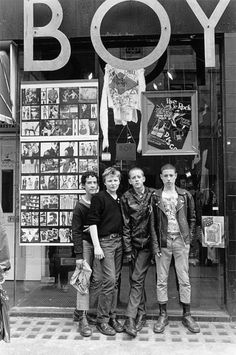 The Boy London shop, 1980 by Janette Beckman. I only wear my Boy leggings as PJs - I'm tired of seeing everyone wearing it, it has been done to death!