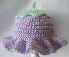 Ruffled Flower Baby Hat Crochet Pattern PDF 0-6 Months. $4.99, via Etsy.