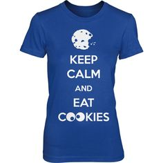 Women's Keep Calm and Eat Cookies T Shirt Funny Cookie Shirt S-2xl (54 BRL) ❤ liked on Polyvore featuring tops, t-shirts, shirts, black, women's clothing, slim fit tees, slimming shirts, slim fit t shirts, t shirt and holiday shirts