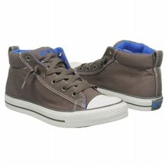 Athletics Converse Men's All Star Mid Charcoal/Dazzling Bl FamousFootwear.com