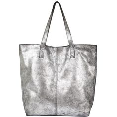Mint Velvet Gunmetal Leather Shopper, Grey (4 155 UAH) ❤ liked on Polyvore featuring bags, handbags, tote bags, shopping bag, leather shopper tote, grey leather purse, genuine leather tote and grey leather tote bag
