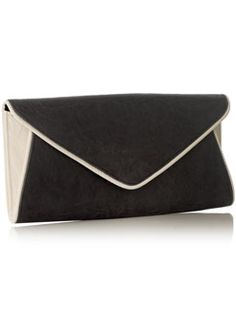 CONTRAST PIPING CLUTCH BAG