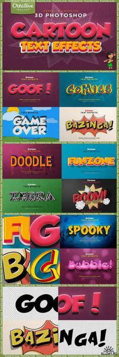 Cartoon Text Effects - 240554