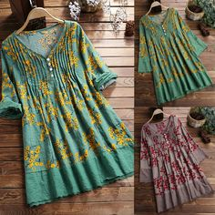 Vintage Pleated Print Patchwork Long Sleeve Plus Size Blouse can cover your body well, make you more sexy, Newchic offer cheap plus size fashion tops for women. Pakistani Fashion Party Wear, Pakistani Dresses Casual, Pakistani Dress Design, Girls Dresses Sewing, Stylish Dresses For Girls, Sleeves Designs For Dresses, Dress Neck Designs, Designer Kurtis, Girls Frock Design