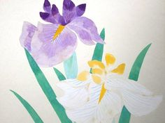 Vintage Japanese Painting Flowers in Showa by VintageFromJapan, $25.00