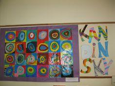 Mural sobre obra kandinsky realitzat per alumnes de 4t. de primària. Consulteu tutorial a http://manualitats.marharo.com/