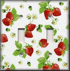 Light-Switch-Plate-Cover-Sweet-Strawberries-Kitchen-Strawberry-Home-Decor