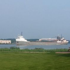 Come watch the ships come in from our restaurant patio! This is the Michipicoten!