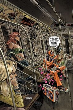 Deadpool Secret Wars #1 variant cover by Dan Panosian *