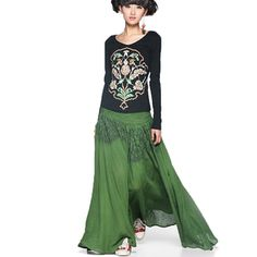 #Swanmarks Liebo New 2012 Spring Waist Embroidery Big Bottom Skirt